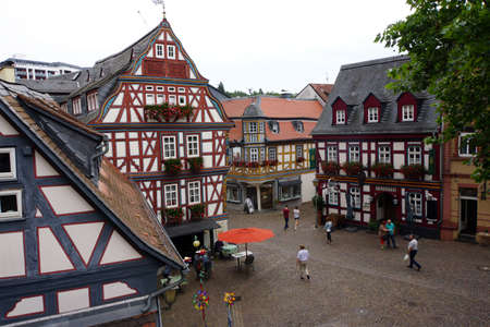 hessen: Timbered houses in the historic center, Idstein, Hessen, Germany Editorial