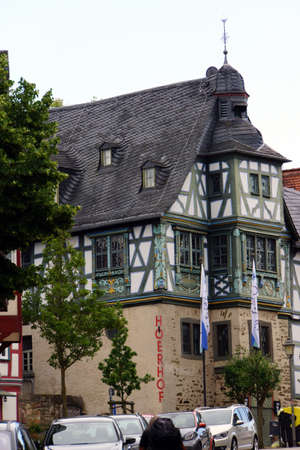 historically: H�ERHOF - timbered houses in the historic center, Idstein, Hessen, Germany