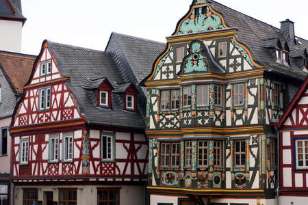 hessen: Killingerhaus - timbered houses in the historic center, Idstein, Hessen, Germany Editorial