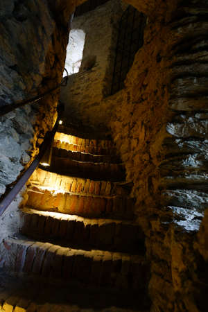 altstadt: Steps in the witches tower, Idstein, Hessen, Germany Editorial