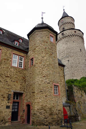 fachwerk: Old Office court and witches tower, Idstein, Hessen, Germany
