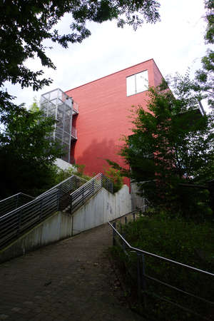 Fisheries museum at the nature reserve Siegaue, Troisdorf, North Rhine-Westphalia, Germany