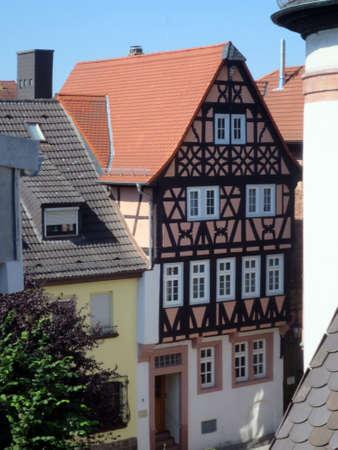 Fachwerkhaus in der historischen Altstadt, Aschaffenburg, Bayern, Deutschland Standard-Bild