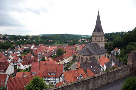 altstadt: Old church Santa Maria Visitation Stock Photo
