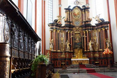St. Salvator Basilica, Pruem, Rheinland-Pfalz, Germany Editorial