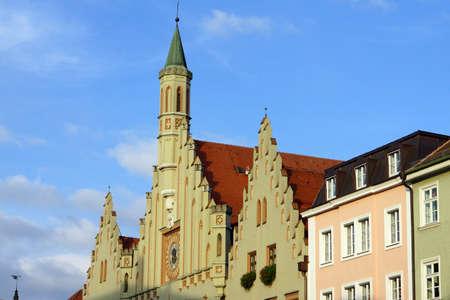 landshut: historic townhall Landshut, Bavaria, Germany