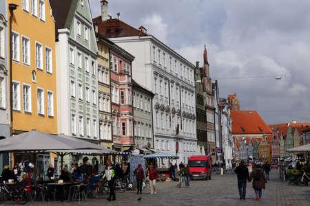 renoviert und die historische Altstadt Landshut, Bayern restauriert, Deutschland