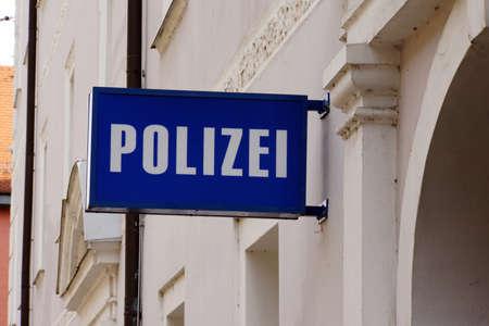 landshut: Symbol picture police station, Landshut, Bavaria, Germany Stock Photo