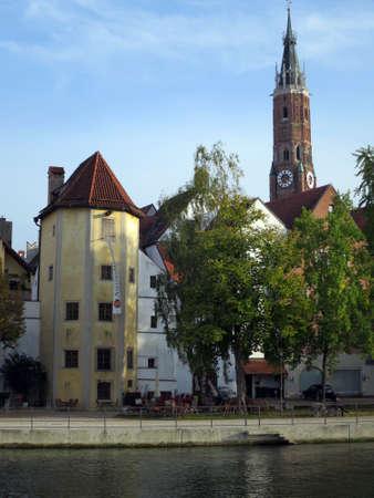 landshut: Basilica Saint Martin, Landshut, Bavaria, Germany Editorial