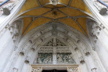 landshut: Pages portal on the basilica Saint Martin, Landshut, Bavaria, Germany Editorial