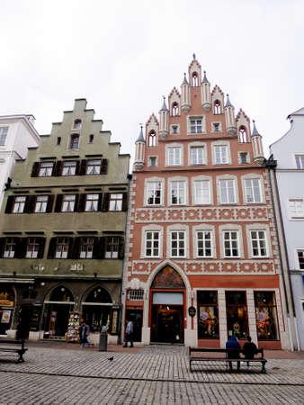 landshut: renovated and restored historic old town Landshut, Bavaria, Germany
