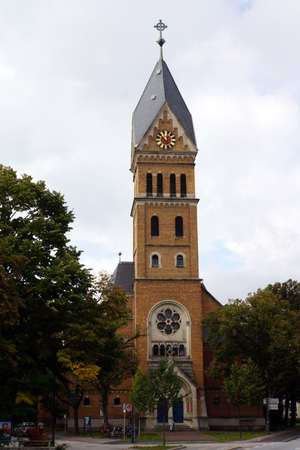 landshut: Evangelical Lutheran Christ Church, Landshut, Bavaria, Germany Editorial