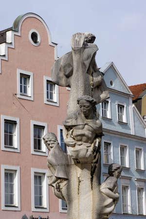 landshut: Warrior monument German oak, Landshut, Bavaria, Germany