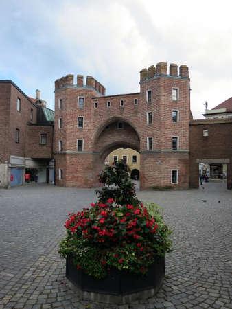 landshut: L�ndtor, historical city gate in Landshut, Bavaria, Germany Editorial