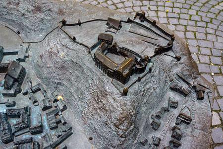 landshut: Relief map for the blind, Landshut, Bavaria, Germany