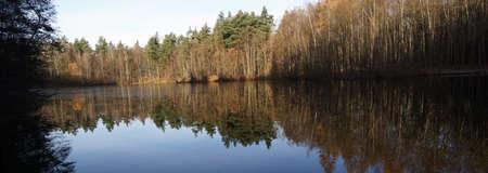 Silver lake in the Rhineland Nature Park, Erftstadt, North Rhine-Westphalia, Germany