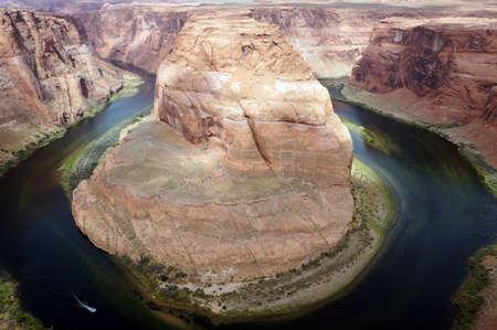 Colorado Plateau at Horseshoe Bend, a Meander of the Colorado River, Page, Arizona, USA Stock Photo