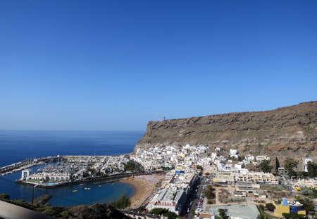 View from the coast road to Puerto de Mogan, Gran Canaria, Canary Islands, Spain