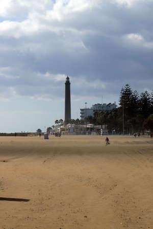 bartolome: beach of Maspalomas, San Bartolome de Tirajana, Gran Canaria, Spain Stock Photo