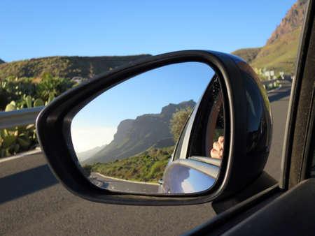 モーガン、グラン ・ カナリア島、カナリア諸島、スペインの近くの山の風景 写真素材