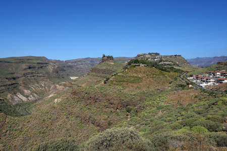 bartolome: hike in the nature park near Pilancones Ayagaures, San Bartolome de Tirajana, Gran Canaria, Canary Islands, Spain Stock Photo