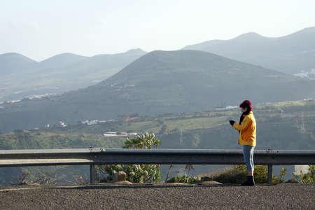 view from Pico de Bandama in the Caldera de Bandama, Las Palmas, Canary Islands, Spain