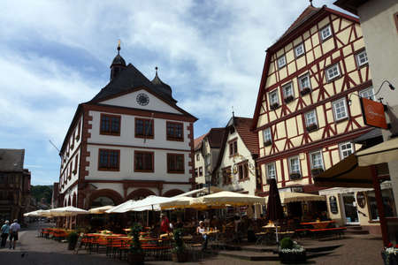 Historic old town of Lohr am Main, Bavaria, Germany