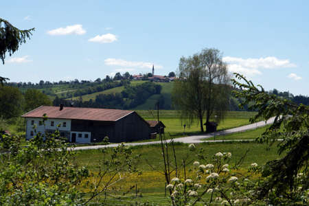View on Kirchberg in the forest, Bavaria, Germany Stock Photo