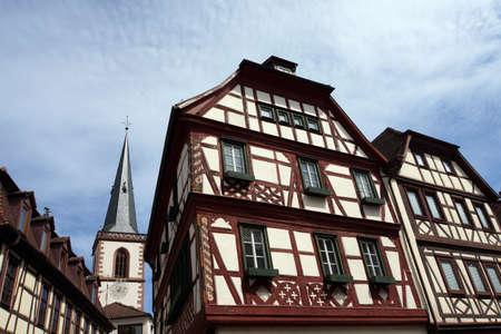 Historische Altstadt von Lohr am Main, Bayern, Deutschland