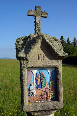 Stations of the Cross to the St. Anna Chapel, Neukirchen near Heiligenblut, Bavaria, Germany