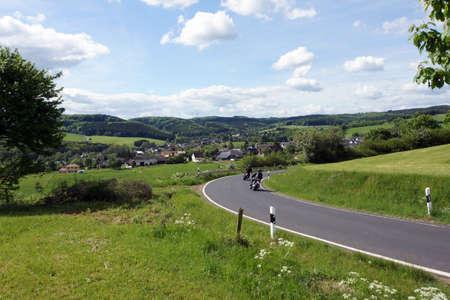 feld: Eifel landscape near Nettersheim-Pesch, North Rhine-Westphalia, Germany Stock Photo