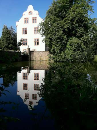 Wasserschloss Metternich landschap uitzicht Stockfoto