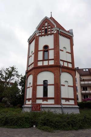 Juliusturm - pumping station at Oderbollwerk, Schwedt, Brandenburg, Germany Editorial