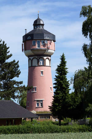 Wissersheim water tower converts to a residential building, Noervenich, Germany