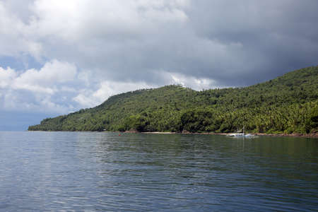 typic Philippine catamaran, Pintuyan, Panaon Island, Southern Leyte, Philippines