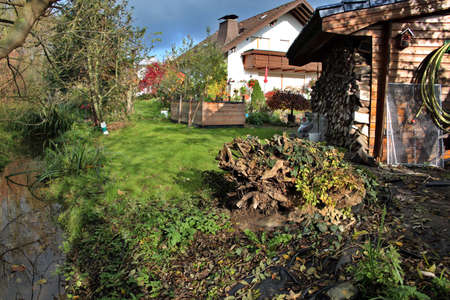 Garden Idyll in autumn, Weilerswist, North Rhine-Westphalia, Germany