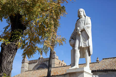 Monument to Christopher Columbus - former Monastery of Santa Mar?a de las Cuevas - La Cartuja, Seville, Andalusia, Spain