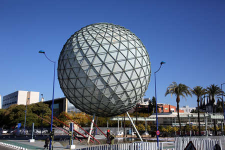 Bioclimate sphere, cooling system of the World Exhibition 1992, Sevilla, Andalusia, Spain 新聞圖片