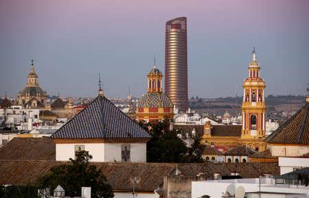 Blick �ber den Stadtteil Santa Cruz, Sevilla, Andalusien, Spanien