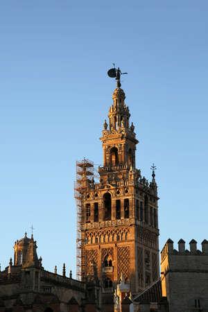 Bell tower Giralda and Cathedral Santa Mar?a de la Sede, Sevilla, Andalusia, Spain Editorial