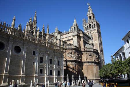 Bell tower Giralda and Cathedral Santa Mara de la Sede, Sevilla, Andalusia, Spain