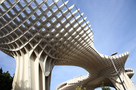 Metropol Parasol - modern architecture in the old town, Sevilla, Andalusia, Spain
