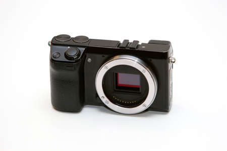 Symbolfoto Case of a system camera without lens