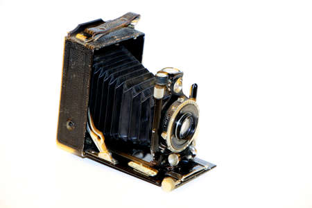 old planfilm camera as decoration - cut out