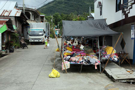 Shopping street in the town center, Pintuyan, Panaon Island, Southern Leyte, Philippines Editorial