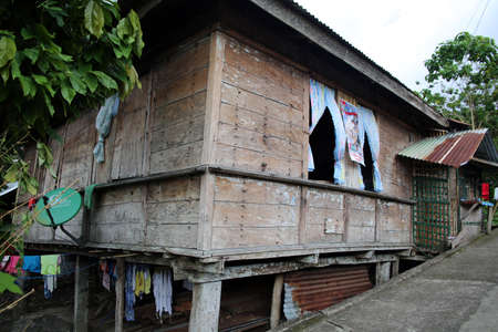 typical wooden house, Pintuyan, Panaon Island, Southern Leyte, Philippines Stock Photo - 109377438
