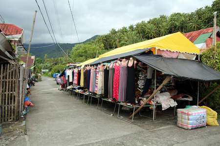 Shopping street in the resort center, Pintuyan, Panaon Island, Southern Leyte, Philippines Editorial