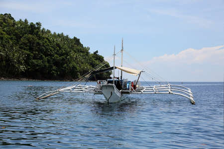 outtrigger boat off the coast of Panaon Island, Southern Leyte, Philippines