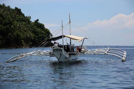 Boom boat off the coast of Panaon Island, Southern Leyte, Philippines Editöryel