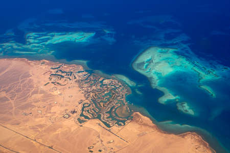 Aerial view of the holiday city El Gouna, Egypt